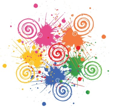 Paint splats and spirals picture
